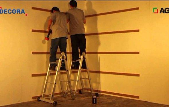 Облицовка стен панелями МДФ