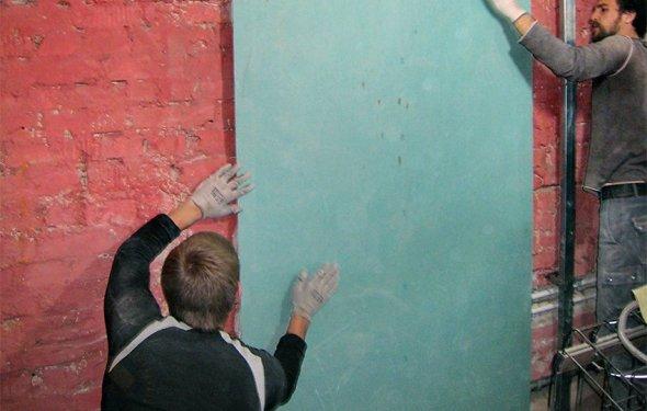 Отделка ГКЛ: выравнивание стен