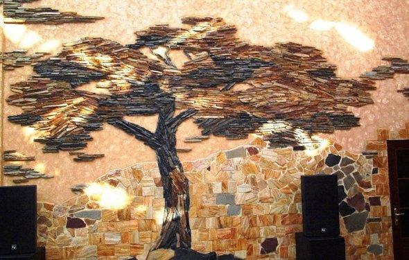 Отделка стен декоративным