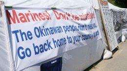 Гасло закликає морпіхів США забратися з Окінави.  Архівне фото