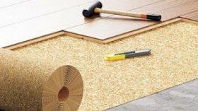Пробкова підкладка відмінно компенсує нерівності підлоги