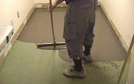 вирівнювання стяжки підлоги